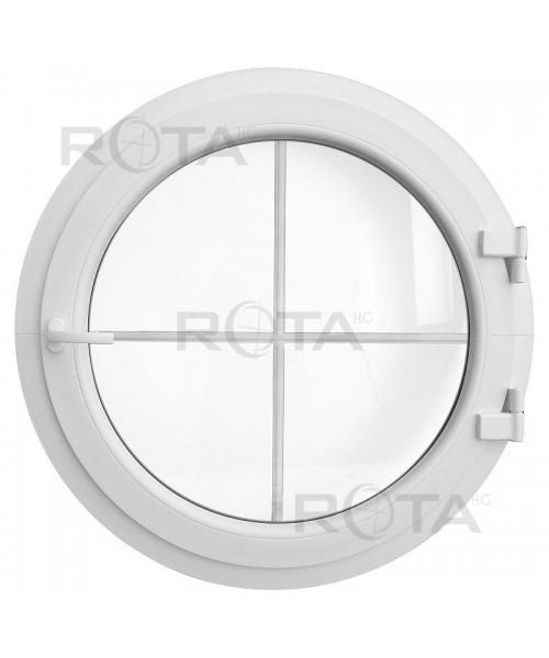 Fenêtre ronde à la française PVC blanc avec croisillons incorporés