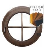 Fenêtre ronde à la française PVC couleur avec croisillons incorporés