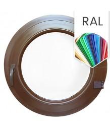 Fenêtre ronde à la française PVC en couleur RAL