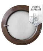 Fenêtre ronde à la française PVC en couleur avec verre décoratif