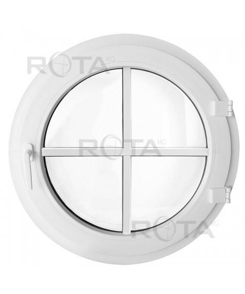 Fenêtre ronde à la française PVC blanc avec croisillons rapportés