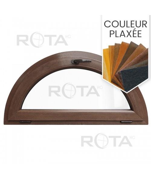 Fenêtre demi lune à soufflet PVC en couleur