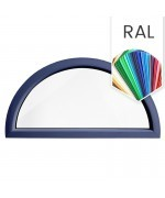 Fenêtre demi lune fixe PVC en couleur RAL demi cercle