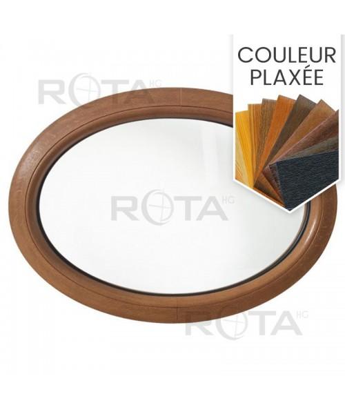 Fenêtre ovale fixe PVC en couleur horizontale
