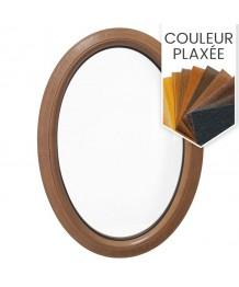 Fenêtre ovale fixe PVC en couleur verticale