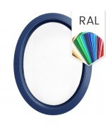 Fenêtre ovale fixe PVC en couleur RAL verticale