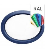 Fenêtre ovale fixe PVC en couleur RAL horizontale