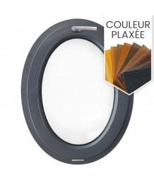 Fenêtre ovale à soufflet PVC en couleur verticale