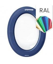 Fenêtre ovale à soufflet PVC couleur RAL (vertical)