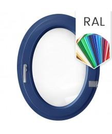Fenêtre ovale à la française PVC couleur RAL (vertical)