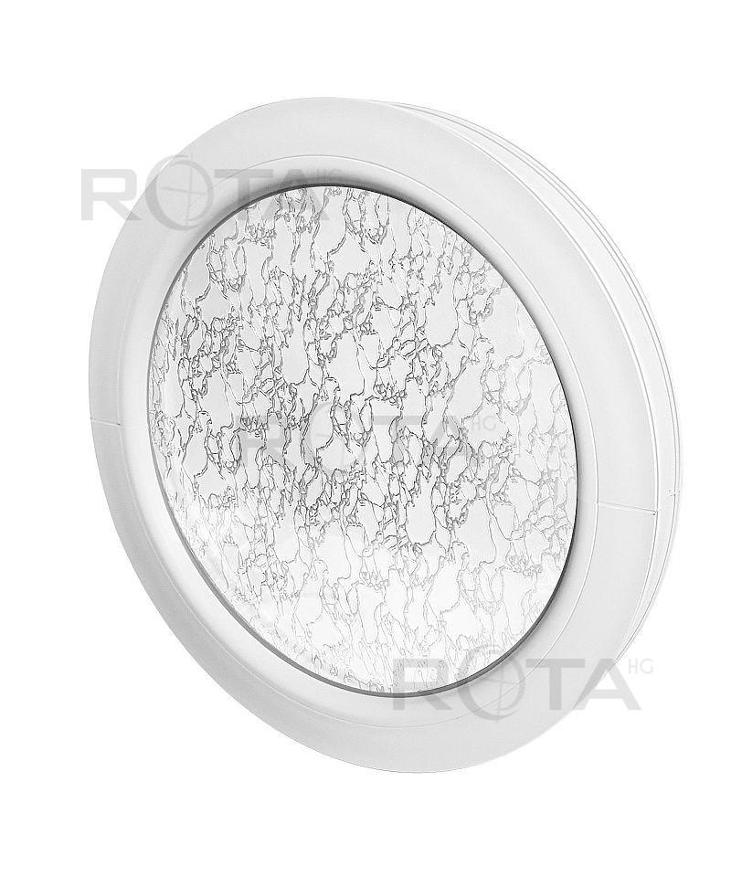Fenêtre ronde fixe PVC Fenêtre ronde fixe PVC avec verre structuré