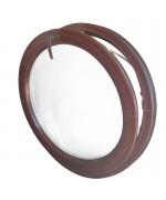 Fenêtre ronde à soufflet PVC en couleur oeil de boeuf