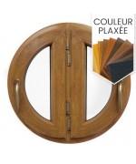 Fenêtre ronde deux vantaux à la française PVC en couleur