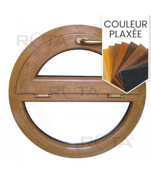 Fenêtre ronde à soufflet et fixe PVC en couleur