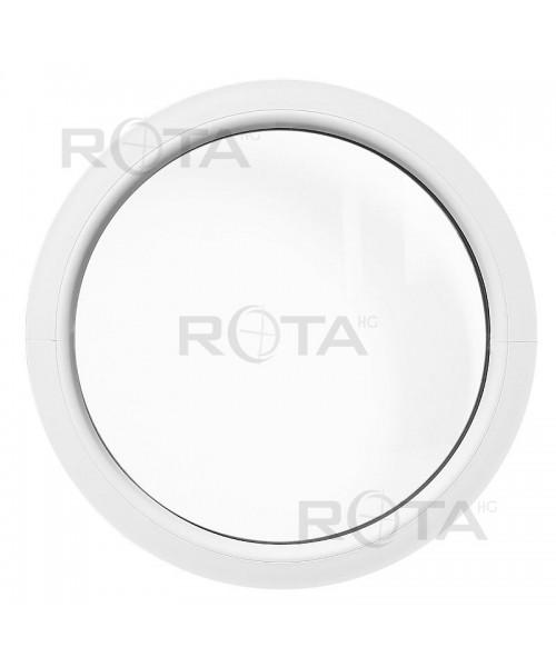 Fenêtre ronde fixe PVC blanc oeil de boeuf