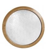 Fenêtre ronde fixe PVC en couleur avec verre structuré