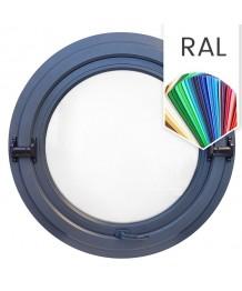 Fenêtre ronde basculante PVC en couleur RAL