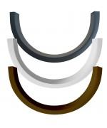 Cornière d'habillage en PVC pour fenêtres demi lunes
