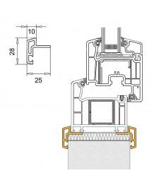 Couvre-joint en PVC pour fenêtres demi lunes