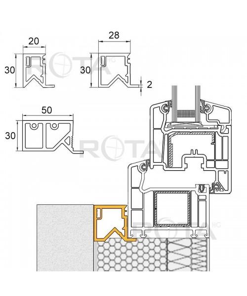 Tapée d'isolation en PVC pour fenêtres demi lunes