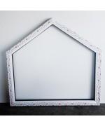 Houteau trapèze 1160x1100 fixe PVC Blanc int. Chêne doré ext.