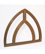 Fenêtre en ogive fixe 1150x1050 cintré PVC chêne doré