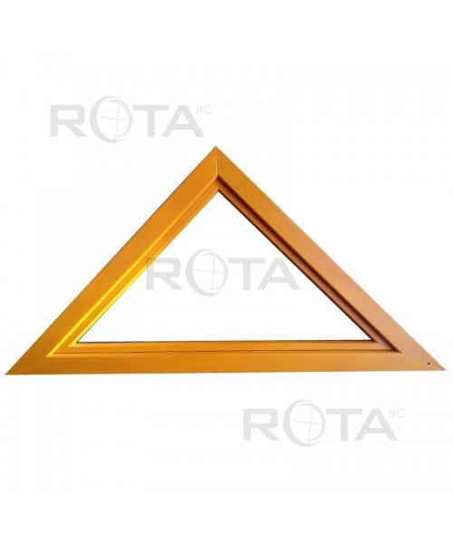 Houteau à soufflet 1800x900mm PVC en couleur RAL lucarne triangulaire - 1