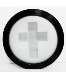 Fenêtre ronde fixe 700 vitrage décoratif PVC en couleur RAL