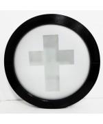 Fenêtre ronde fixe vitrage décoratif PVC oeil de boeuf en couleur RAL