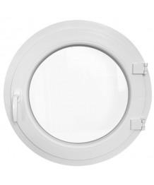 Fenêtre ronde à la française PVC blanc oeil de boeuf