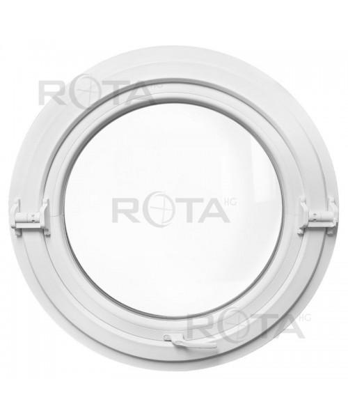 Fenêtre ronde basculante PVC blanc oeil de boeuf