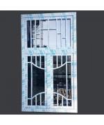 Fenêtre avec croisillons PVC 2 ouvrants à la française - 1