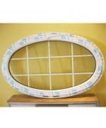 Fenêtre ovale à soufflet 1600x900 PVC à petits carreaux - 1