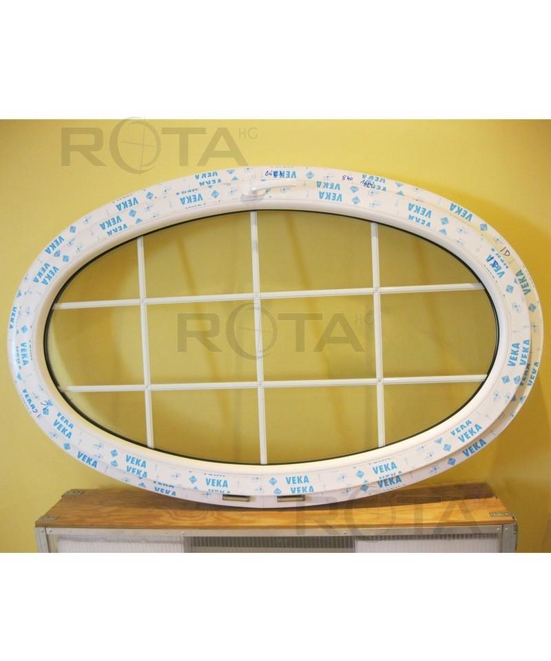 Fen tre ovale soufflet 1600x900 pvc avec croisillons for Croisillons fenetre