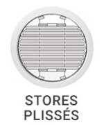 Stores plissés