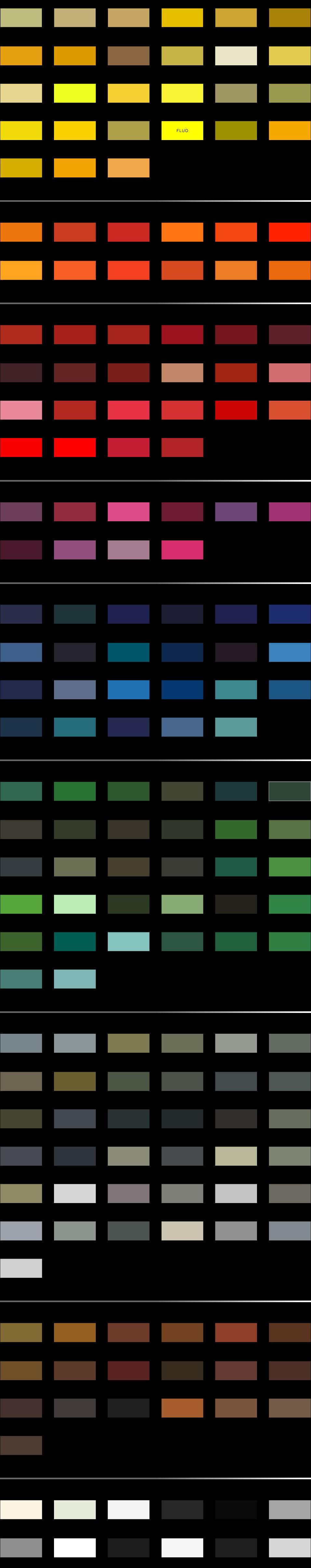 RAL colori