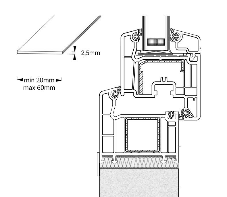 Profilo piatto per finestre rotonde