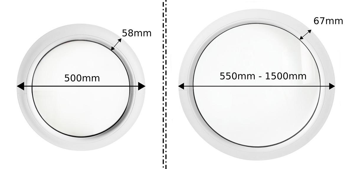 Oeil de boeuf la fran aise blanc 55cm 60cm 70cm 80cm for Dimensions fenetre standard